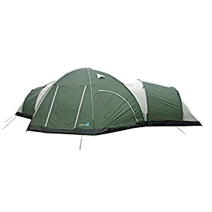 Peaktop Brand New 3000mm Waterproof 8 Person 3 Room Berth Hiking Dome Camping Tent Blue / Grey