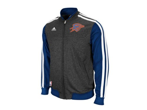 Adidas Oklahoma City Thunder NBA Winter Court Blue L Mens Jacket