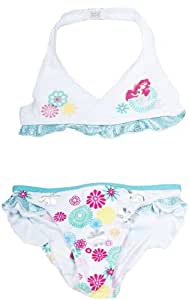 maillot de bain bikini enfant fille arielle la petite sir ne disney blanc vert 3ans amazon. Black Bedroom Furniture Sets. Home Design Ideas