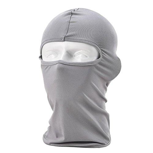 Rioriva Mens Balaclava Ski Mask Outdoor Sports Hiking Skiing Cycling Face Mask (Lycra-grey),One Size,BF-05