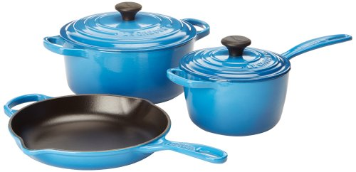 Le Creuset Signature 5-Piece Cast Iron Cookware Set