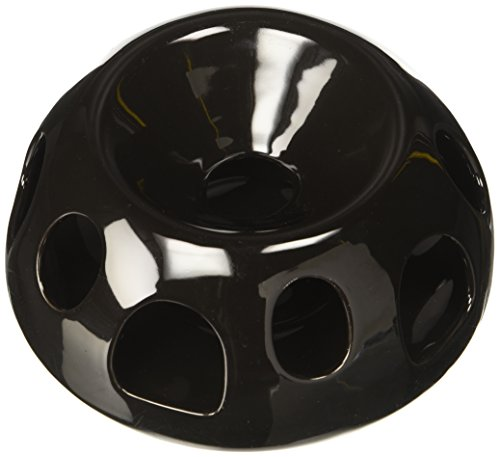 Pioneer Pet Tiger Diner Ceramic Food Dish/Bowl, Black (Slow Cat Feeder compare prices)