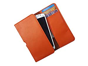 ATV PU Leather SAFFRON Pouch Case Flip Cover For Lava Iris 400s