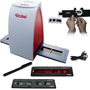 Rollei DF-S 50 SE (5 Megapixel Dia/Negativscanner, 1800 DPI, 48-Bit Farbtiefe, One Button Scanfunktion, inkl. 1 Schlitten für Farbnegative und 1 Schlitten für Dias, 1 Dia-Magazin für gerahmte Dias, Reinigungsbürste und USB-Kabel)