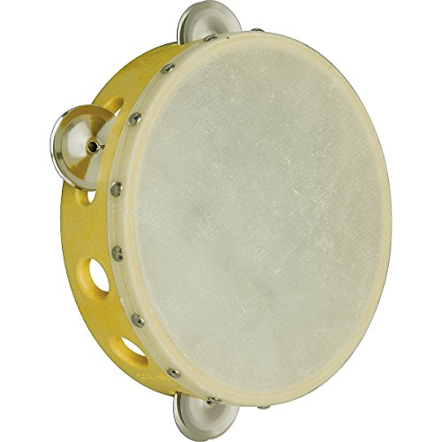 "Rhythm Band School Children Kids Musical Instrument Plastic Rim 6"" Tambourine - 1"