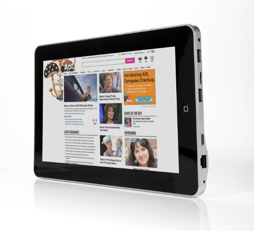 iRulu 10.1 inch Android 4.0 Touchscreen Tablet PC Support MID Google 3G WiFi Network & Bulit-in 1GB DDR3 8GB Nand Flash With RJ-45 Connector for Ethernet/ ADSL
