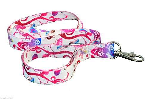 butterflies-flowers-quality-satin-lanyard-neck-strap-ideal-for-mobile-id-keys-mp3-usb