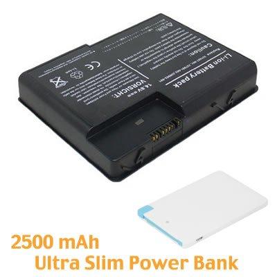 BattPit Notebook Akku für Compaq Presario X1460CA (4400 mah ) mit Ultra-Kompakt 1A Ausgang Externer Akku Tragbares USB-Ladegerät 2500mAh mit Lightning für iPhone 5/5s/5c/6/6 Plus, iPad Air / Mini, Micro USB für Android smartphones.