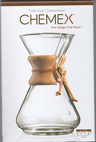 Chemex 10-Cup Classic Series Glass Coffee Maker (10 Cup Chemex Coffee Maker compare prices)