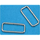 Rectangular Loop Metal D-Rings. Stainless-Steel: Box of 25, Dimensions: 2