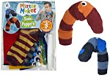 Mister Maker Sock Puppet Kit. Each kit contains: 3 striped socks, glue, felt sheets, wiggly eyes, a template sheet and an instruction sheet. Great rainy day or gift idea.