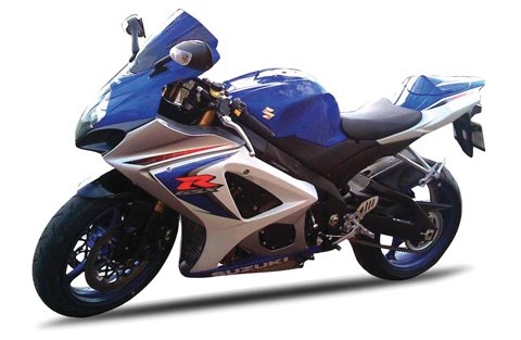 New Ray Toys Street Bike 1:12 Scale Motorcycle GSX-R1000 Blue/White 2008