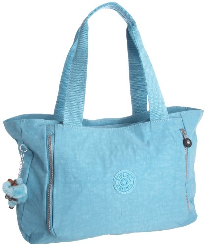 Kipling Women's Walu Shopper With Expandable Front Pocket Columbia Blue K13395550 Large