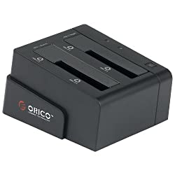 ORICO 6628US3-C -BK 2 Bay Tool Free USB 3.0 SATA Hard Drive HDD Docking Station , Dual - Bay Hard Drive Duplicator Clone Dock station Hardcore Funs Exclusive