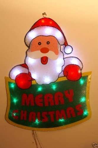 Christmas Concepts 55Cm Santa Merry Xmas Banner Led Silhouette (Nl59)