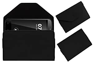 Acm Premium Pouch Case For Zen Ultrafone Amaze 701fhd Flip Flap Cover Holder Black