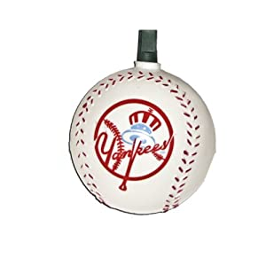 Kurt Adler Indoor/Outdoor 10-Light MLB Yankees Baseball Light Set