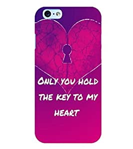 Fuson 3D Printed Love Quotes Designer back case cover for Apple I Phone 6 - D4528