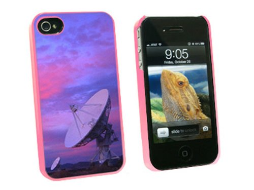 Graphics And More Very Large Array Vla Radar Telescope Dishes New Mexico At Sunset - Snap On Hard Protective Case For Apple Iphone 4 4S - Pink - Carrying Case - Non-Retail Packaging - Pink