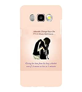 Printvisa Love Quote By A Couple In Black Back Case Cover for Samsung Galaxy J5 (2016)::Samsung J510F