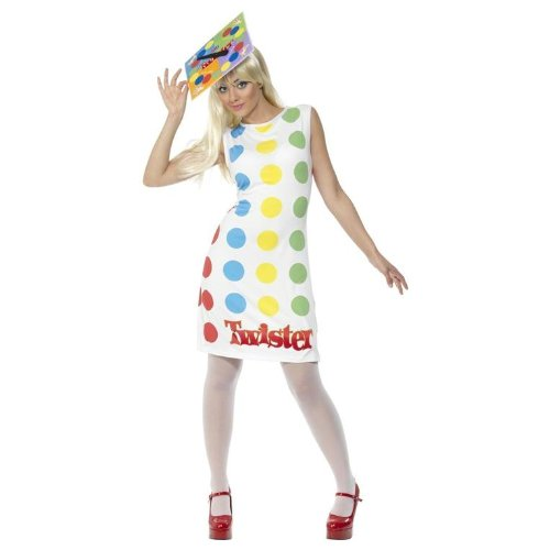 Licensed Twister Board Game Costume for Women - Medium 12 to 14