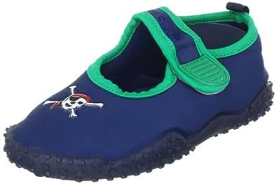 Playshoes Aquaschuhe, Badeschuhe Pirat mit höchstem UV-Schutz nach Standard 801 174785, Jungen Aqua Schuhe, Blau (original 900), EU 34/35