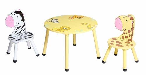 Lot de 2 chaises et 1 table pour enfants animaux de for Table et chaise pour enfants