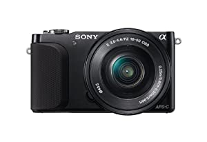 Sony NEX-3NL/B 16.1 MP Compact Interchangeable Lens Digital Camera Kit (Black) w/ 16-50mm Lens Included Full 1080p HD Movies Video Panorama Image Stabilization CMOS
