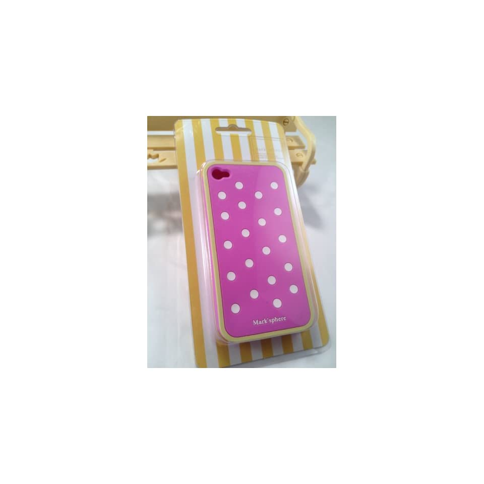 SWEETBOX PREMIUM Marksphere Polka Dot Silicone Case For iPhone 4/4S   PINK