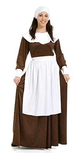 Pilgrim Woman Costume (As Shown;Large)