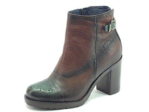 Sneakers per donna Igi&Co in pelle marrone spazzolata verde (Taglia 39)