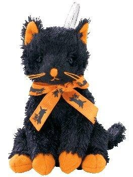 Ty Halloweenie Beanie Fraidy - Black Cat - 1
