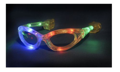 WeGlow International Flashing Multi Color Sunglasses (2 pack) - 1