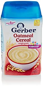 Gerber Baby Cereal, Oatmeal, 8 Oz