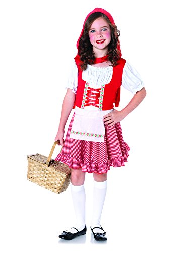 Leg Avenue Children's Lil' Miss Red Costume, Red/White, X-Small