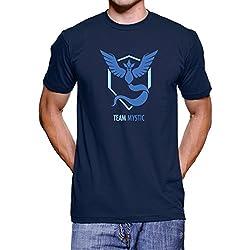 Pokemon Go Team Mystic T Shirt (Navy, L)