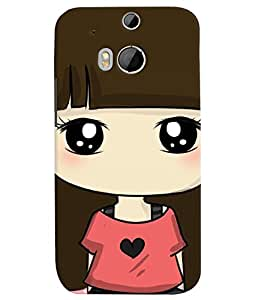 TOUCHNER (TN) Shy Girl 2 Back Case Cover for HTC One M8::HTC M8