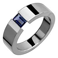 Elva Titanium Ring with Tension Set Iolite
