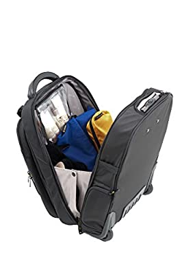 """GATE8 2-in-1 Cabin Mate carry-on luggage for Easyjet, Ryanair, Air Lingus - Lightweight luggage trolley wheeled cabin bag, Roller bag with detachable laptop backpack to protect 13"""", 15.6"""" inch laptops."""