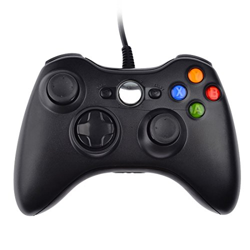 Video Game Controller, PeleusTech Video Game Wired USB Controllers Gamepad for Microsoft PC XBO X360 Hand Shank Rein - Black (Sony Car Wired Remote compare prices)