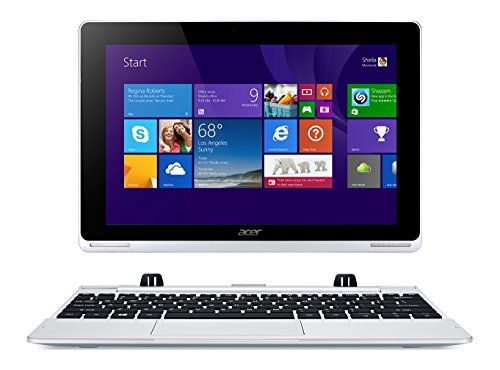 "Acer Aspire Switch 10 W5-012-16K5 Notebook/Tablet Convertibile da 10.1"" IPS, Processore Intel Atom Z3735F 1,33GHz Quad-Core, RAM 2 GB, eMMC 32 GB, Argento"