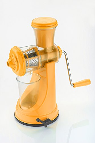 Pi² Combo Of Fruit And Vegetable Yellow Juicer Deluxe S.S. Handle And 6 In 1 Slicer