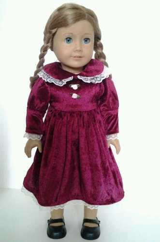Velveteen Dress for American Girl Dolls-Madame Alexander