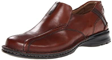 Clarks Men's Escalade Slip-On,Brown Leather,13 M