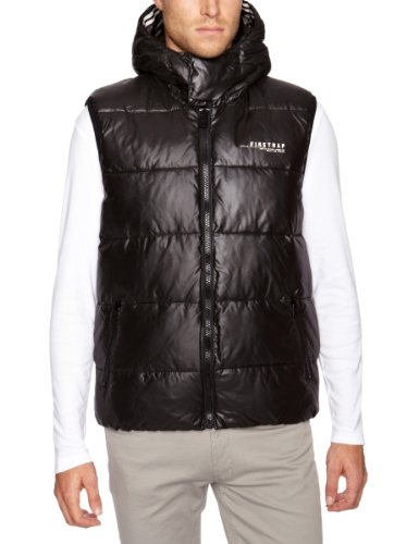 Firetrap Geo Mens Gilet Black X-Large