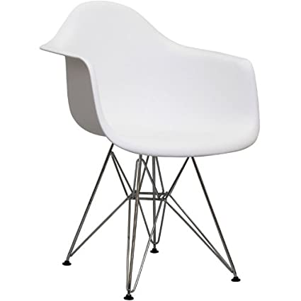 Drame Wire Base Armchair in White