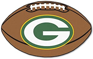 Green Bay Packers 22x35 Football Mat by Hall of Fame Memorabilia