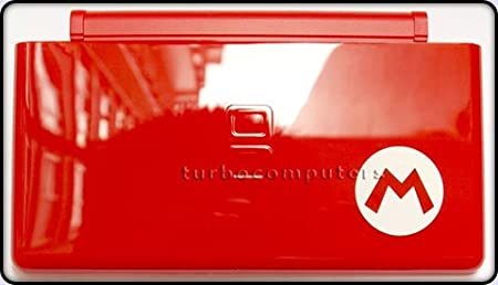 Mario Red - Nintendo DS Lite Complete Full Housing Shell Case Replacement Repair w/ Hinge Set