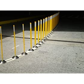 "Beacon Highway Delineator Post; Description: Surface Mount; Height Above Grade: 36""; Color: Yellow; Weight (LBS): 3; Model# BVGLT-16-3F-Y"