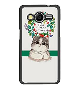 PrintDhaba Quote D-2875 Back Case Cover for SAMSUNG GALAXY CORE 2 G355H (Multi-Coloured)